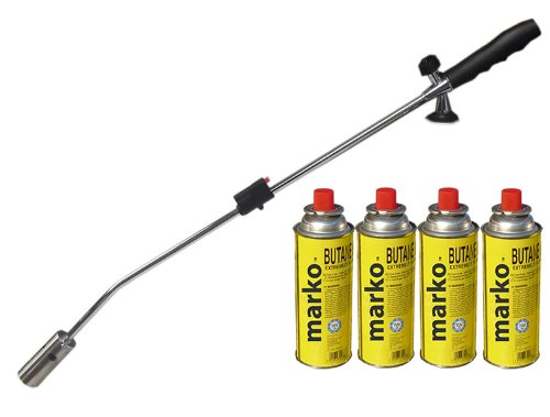 Butane Gas Weed Wand Blowtorch Garden Torch Weeds Killer Burner Blaster + 4  Gas Canisters: Amazon.co.uk: Garden U0026 Outdoors