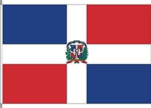Tischfähnchen Dominikanische Republik - Tischflaggenständer aus Holz