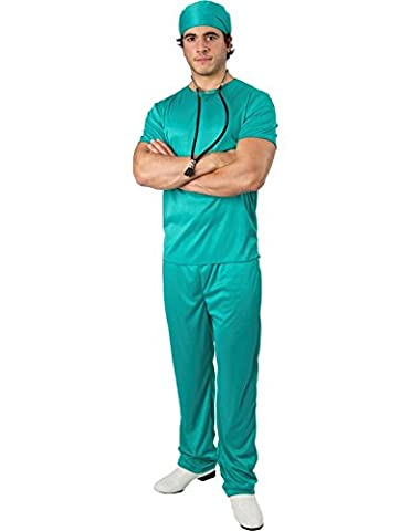 Orion Costumes Mens Surgeon Doctor Medical Scrubs Vet Costume Green Extra Large - Vet Scrub