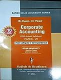 Delhi University B.Com 2nd Year Corporate Accounting (Non-Collegiate / Correspondence) for 2019-20 Session.