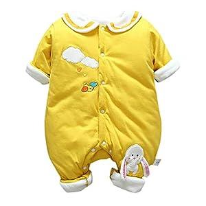 Felpa Conejo Recién Nacido Mono Invierno Moda Niñito Bebé Niños niñas Calentar Mameluco Solapa Encantadora Mono… 7