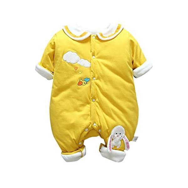 Felpa Conejo Recién Nacido Mono Invierno Moda Niñito Bebé Niños niñas Calentar Mameluco Solapa Encantadora Mono… 1