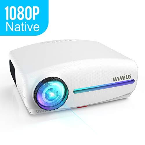 Proiettore,WiMiUS 5500 Lumen Videoproiettore Nativa 1920 x 1080P LED Full HD Supporto Dolby 4K...