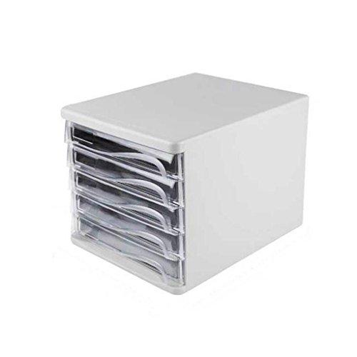 Aktenschrank-Fach-Datei-Körbe Schreibtisch-Mode-5. Fußboden-hohe Kapazitäts-Aufbewahrungsbehälter-Aktenschränke Xuan - worth having ( Farbe : Weiß ) (Aktenschrank Körbe)