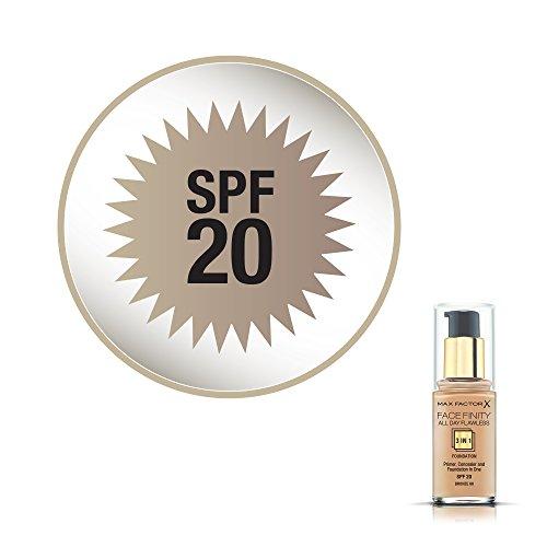 Max Factor - Facefinity All Day Flawless 3in1 - Fondotinta Liquido a Lunga Durata - 080 Bronze -30 ml
