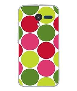 PrintVisa Retro Polka Colourful Dots High Gloss Designer Back Case Cover for Motorola Moto X :: Motorola Moto X (1st Gen) XT1052 XT1058 XT1053 XT1056 XT1060 XT1055