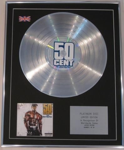Edt Ltd-50 CENT CD Platinum disco THE MASSACRE