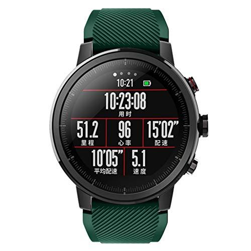 DIPOLA Correa de Correa de Reloj Deportivo Suave de Silicagel para Reloj Inteligente Amazfit Stratos 2S-