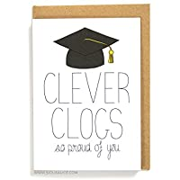 Clever Clogs - Graduation Greetings Card