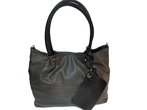Maestro Surprise Cityshopper Handtasche Bag in Bag 45 cm Grau/Schwarz