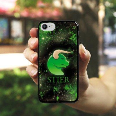 Apple iPhone X Silikon Hülle Case Schutzhülle Sternzeichen Stier Astrologie Hard Case schwarz