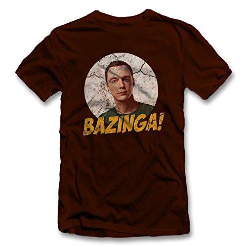Bazinga 02 Vintage T-Shirt S-XXL 12 Farben / Colours Braun