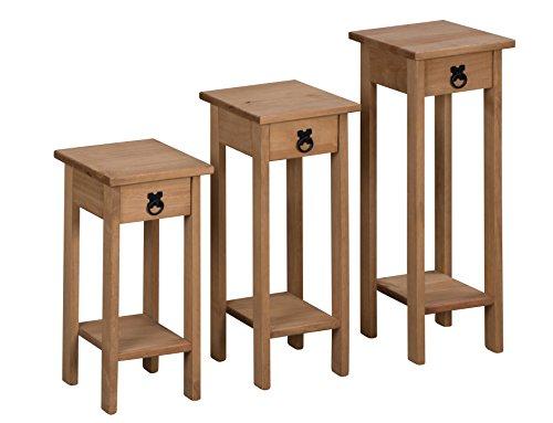 mercers-furniture-corona-pedestales-para-plantas-madera-cera-antiguo-de-3