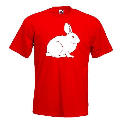 Kiwistar Hase Motiv 1 - Karnickel Stall T-Shirt in 15 Verschiedenen Farben - Herren Funshirt Bedruckt Design Sprüche Spruch Motive Oberteil Baumwolle Print Größe S M L XL XXL