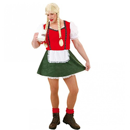 Dirndl Franzl für Männer Gr. 50- 60 Kleid grün-rot Bluse Oktoberfest Wiesn (Kostüme 60's 50's Und)