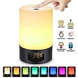 Réveil Lumière, SOLMORE Lampe Matin Lampe de Chevet Réveille RGB Tactile de Table...