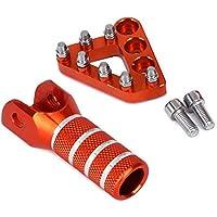 Pedales de freno trasero CNC Placa de paso + palanca de cambios Palanca de cambios Punta para KTM 125-530 SX EXC XCF XC XCW SXF SMR 2004-2010 Enduro Supermotor 690 DUKE Adventures Orange
