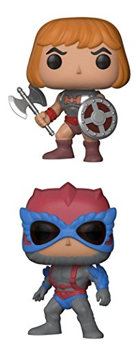 FunkoPOP Masters Of The Universe Battle Armor He Man Stratos Cartoon Vinyl 2 Figure Bundle Set NEW