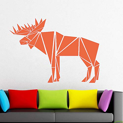 Ajcwhml Bull Elk Body Applique Elk Geometrische Tier Auto Aufkleber Dreieck Linie Applique Fenster...