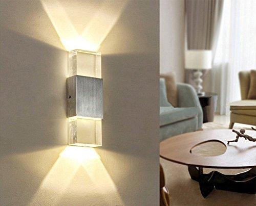 Glighone applique da parete interni lampada a muro applique led