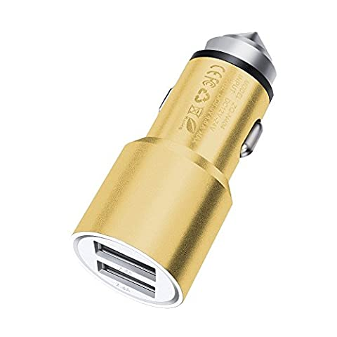 ONX3 (Gold) Quick Charge Dual Port USB Full Metal Car