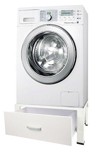 :Eurosell Profi Trockner Untergestell Unterbau Für Waschmaschine Erhöhung Podest Waschmaschinenpodest Sockel Mit Schublade