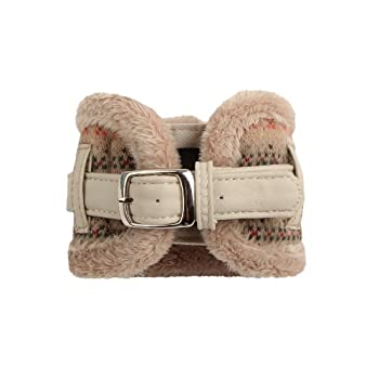 Pinkaholic New York NAMD-AC650 Twilight Collier pour chien Beige Taille L