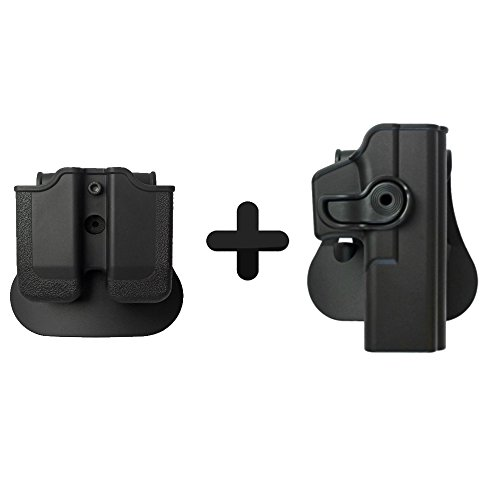 IMI Defense Retention Roto Tactical Holster + Double Mag Magazine Pouch For Glock 17 22 31 Glock 17 Magazine Pouch