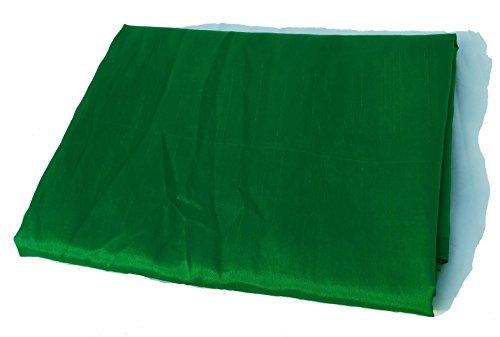 Nilkanth Knitting Plain Cloth for Gown Nylon Slub Zoya silk Dark Green...