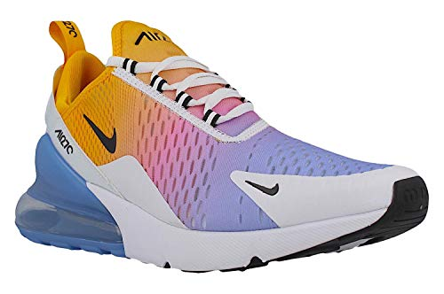 Nike Herren Air Max 270 Gymnastikschuhe, Gold/Black/Univ Blue/Psychic Pink/White/Football Grey 702, 42 1/2 EU