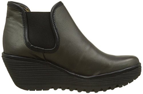 FLY London Damen Yat Stiefel Grau (Anthracite Black)