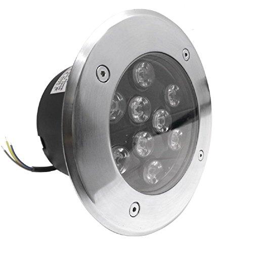 LineteckLED® Faro segnapasso LED 9W da incasso per esterno IP65 impermeabile e calpestabile luce naturale 4000K 220V angolo luce 45°