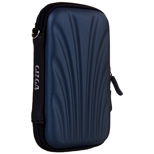 GIZGA Branded 2.5 inch SELF Tattoo SEMI HARD SHELL - Color: Navy Blue, External Portable Hard Disk Drive Carry Cover Protector/ Pouch / Bag/HDD Case