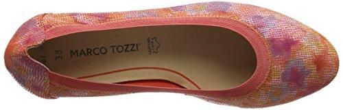 Marco Tozzi Premio 22427, Talons Compensés  Femme Rouge (Coral Multi 507)