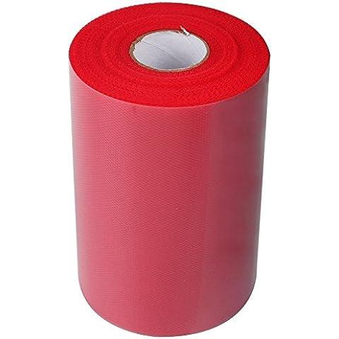 Rollo de tela organza gasa para decoracion 22 m X 15 cm color rojo