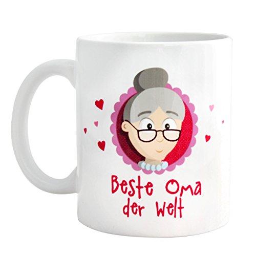 Geschenk beste Oma * beste Oma der Welt Tasse mit GRATIS Glückwunschkarte * Geschenk beste Oma * Geschenk für Oma Weihnachten/Geschenk Oma Geburtstag/Oma werden Geschenk – Oma Geschenk von MyOma