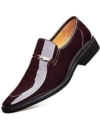 Calzado de Negocios para Hombres Uniformes Zapatos Punta Redonda Plana Zapatos Casuales Transpirables Zapatos de Fitness