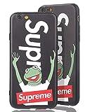 SUP Frog Case [ Passend für iPhone 6 Plus, in Schwarz ] Supreme x Kermit der Frosch Hülle - Fühlbares 3D-Motiv Cover