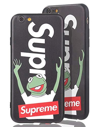 SUP Frog Case [ Passend für iPhone 6, in Schwarz ] Supreme x Kermit der Frosch Hülle - Fühlbares 3D-Motiv Cover