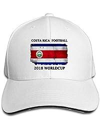 bc5231d444862 Vintage Adulto Costa Rica 2018 Copa del Mundo Bandera MOM Sombrero Snapback  Sombrero Negro Sandwich Peaked