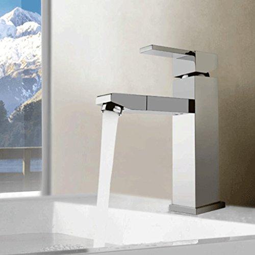 Rollsnownow Badezimmer, kreatives Silber, stilvoll, moderne Elemente, drehbarer Hahn, einzelnes Handgriff