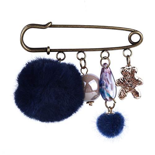 SEVENHOPE Süße Niedliche Brosche Strickjacke Strickjacke Zubehör (Navy Blau)