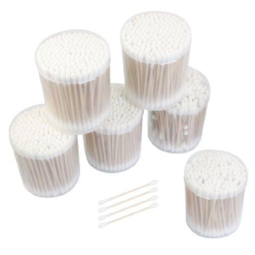 Sourcingmap Lot de 6 boîtes de coton-tiges en bois