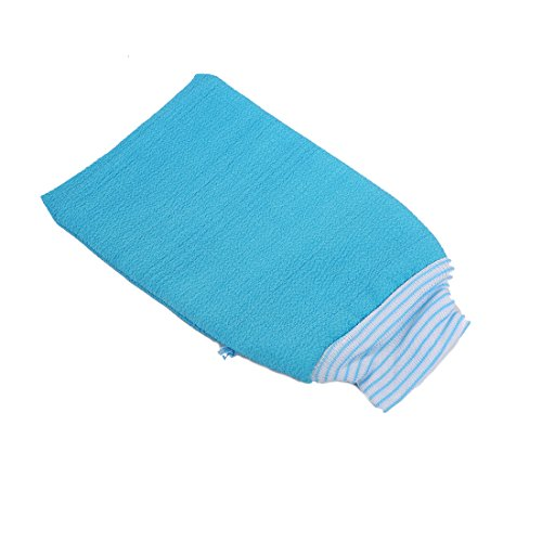 LissomPlume Gant De Bain Exfoliant Uni Couleur Gant De Toilette Mousseuse Bain Douche bleu