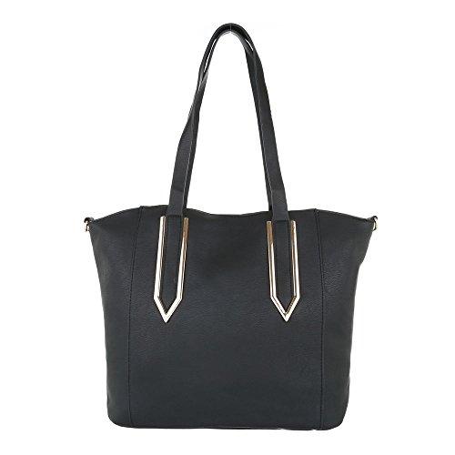 Taschen Handtasche Used Optik Schwarz