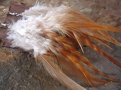 ? longues boucles d'oreilles en plumes à base de 5 plumes naturelles ? boucles d'oreilles en plumes natives