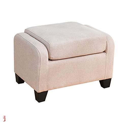 DULPLAY Madera Portátil Taburete del sofá, Plegable Taburete Puff Cuadrado Banco cómodo Esponja Tapizado Mesa Banco Taburete de café para el Dormitorio-B 60x40x40cm(24x16x16inch)