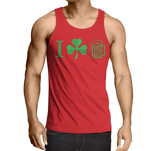 lepni.me Weste The Symbols of St. Patrick's Day - Irish Icons (Small Rot Mehrfarben) (Garden Top Tea T-shirt)
