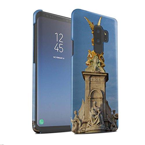 Stuff4® Matte Snap-On Hülle/Case für Samsung Galaxy S9 Plus/G965/Victoria-Denkmal Muster/Seiten London Kollektion