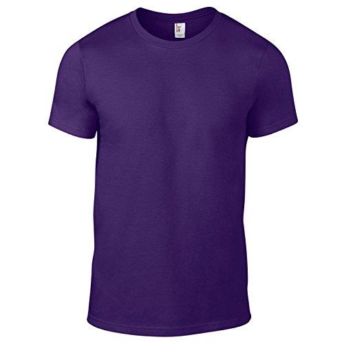 Anvil Herren Modern T-Shirt Violett